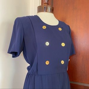 Liz Claiborne Dresses - Liz Claiborne Navy Blue Vintage Dress Size 4